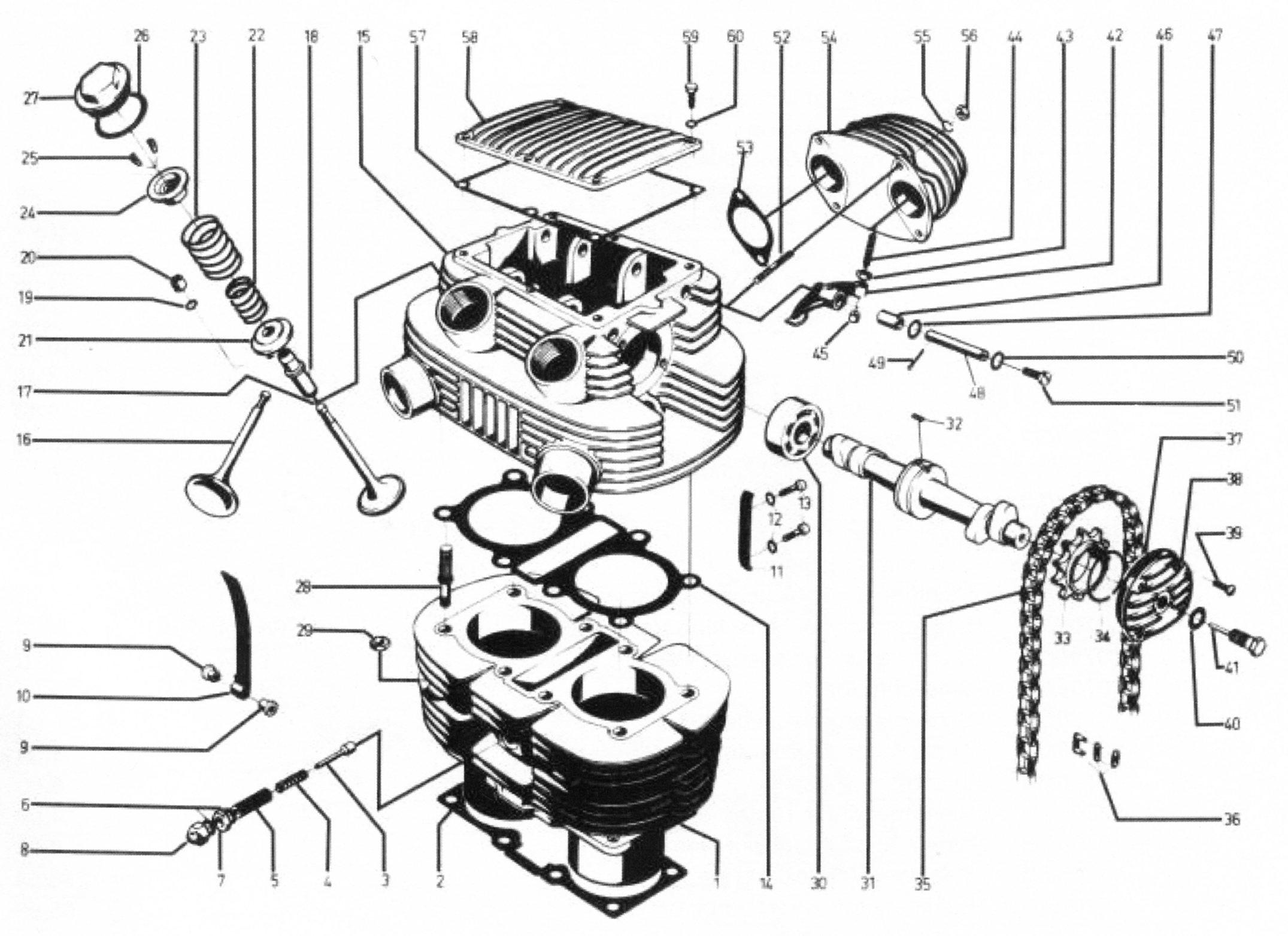 Zylinder und Zylinderkopf