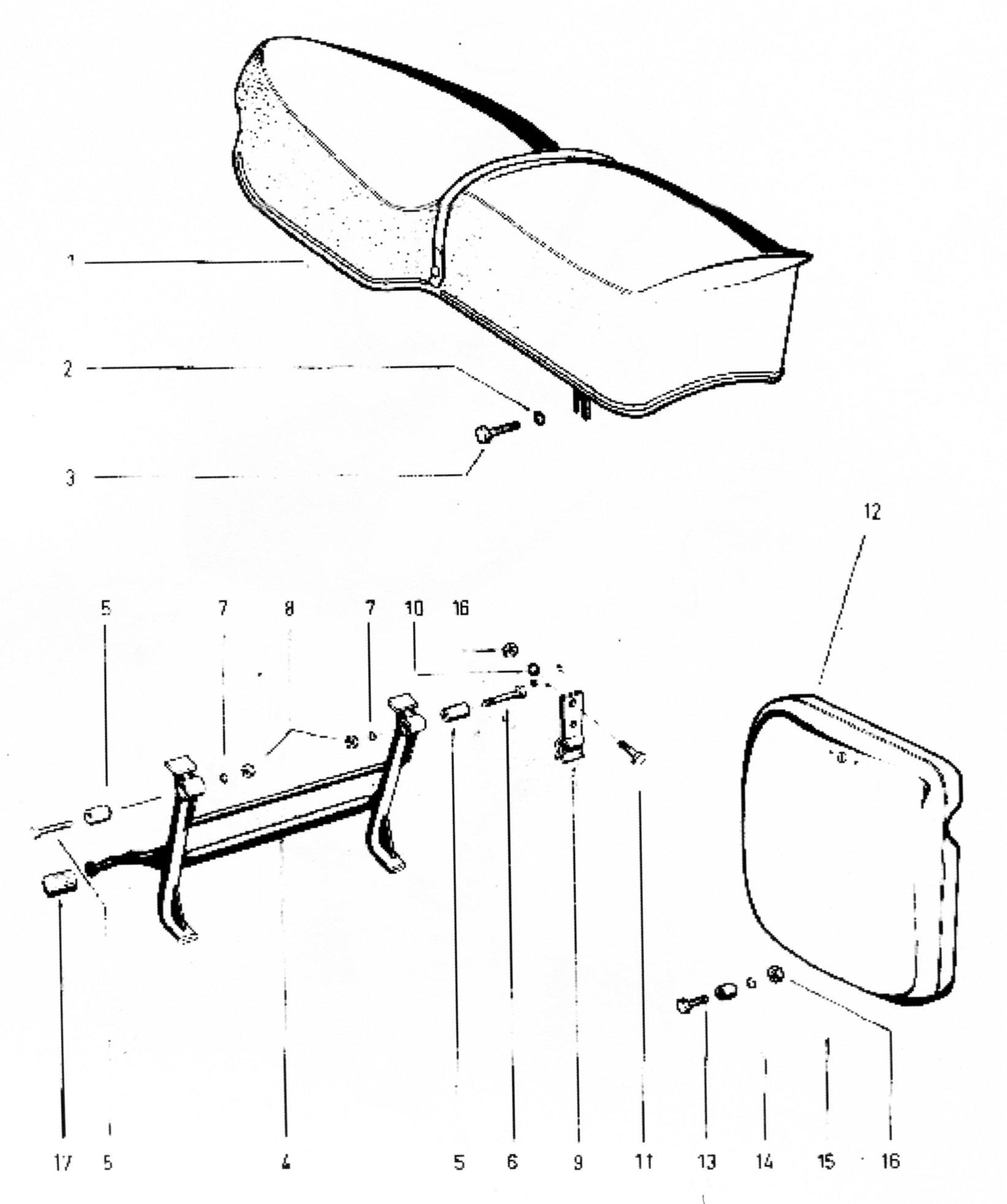 Sitzbank, Kippständer